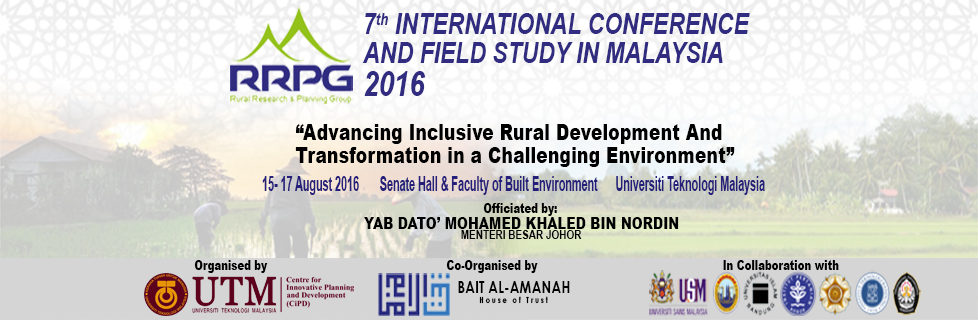 RRPG 7th International Conference and Field Study in Malaysia 2016